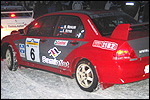 Mait Meriloo - Einar Vettus Mitsubishil. Foto: Erik Berends